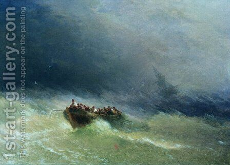 The Shipwreck 14 by Ivan Konstantinovich Aivazovsky - Reproduction Oil Painting