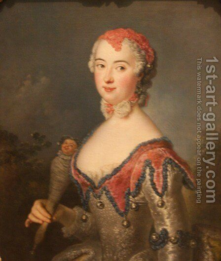 Portrait of Charlota Fredrika Sparre by Antoine Pesne - Reproduction Oil Painting