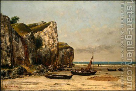 Beach in Normandy by Gustave Courbet - Reproduction Oil Painting