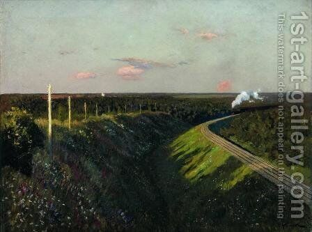 Train on the way by Isaak Ilyich Levitan - Reproduction Oil Painting