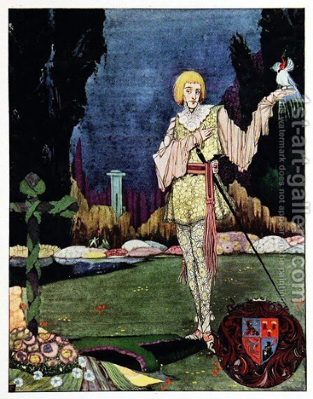 The Year's at the Spring 29 by Harry Clarke - Reproduction Oil Painting