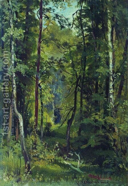 Forest 10 by Ivan Shishkin - Reproduction Oil Painting