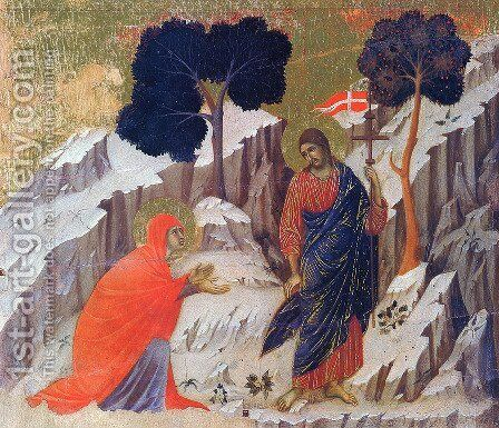 Christ Appearing to Mary by Duccio Di Buoninsegna - Reproduction Oil Painting