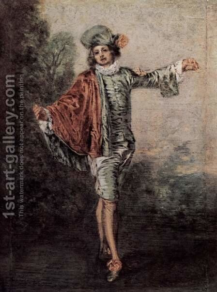 The Casual Lover by Jean-Antoine Watteau - Reproduction Oil Painting
