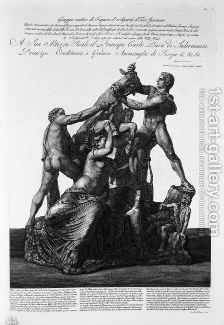 Taurus Group Franese by Giovanni Battista Piranesi - Reproduction Oil Painting