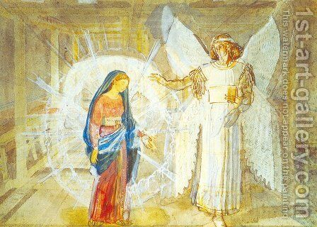 Annunciation by Alexander Ivanov - Reproduction Oil Painting
