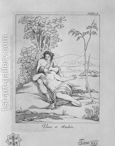 Venus and Anchises by Giovanni Battista Piranesi - Reproduction Oil Painting