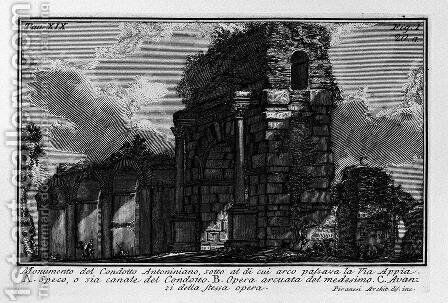 The Roman antiquities, t. 1, Plate XIX by Giovanni Battista Piranesi - Reproduction Oil Painting