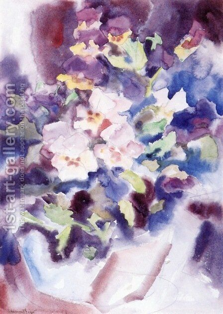 Pansies by Charles Demuth - Reproduction Oil Painting