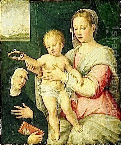 Virgin and Child with Saint by Barbara Longhi - Reproduction Oil Painting