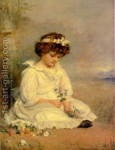 Little Speedwell's Darling Blue by Sir John Everett Millais - Reproduction Oil Painting