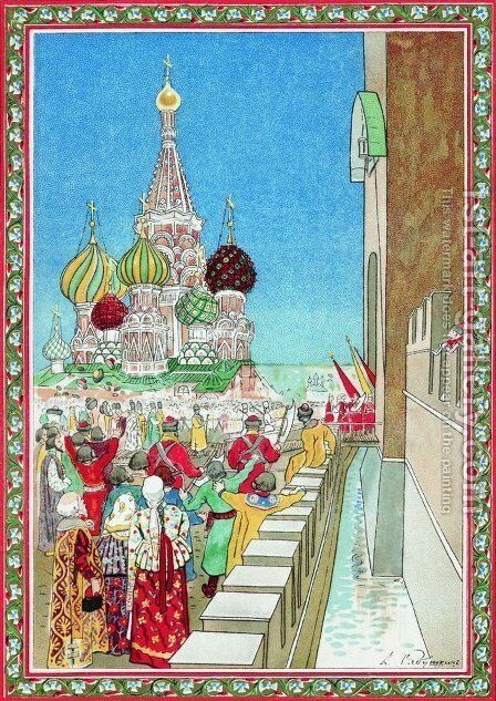 Illustration for the coronation album by Andrei Petrovich Ryabushkin - Reproduction Oil Painting