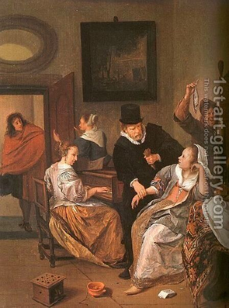 Doctor's Visit by Jan Steen - Reproduction Oil Painting