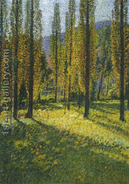 The Poplars 2 by Henri Martin - Reproduction Oil Painting
