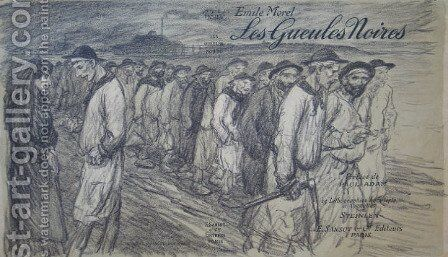 Les Geules Noires 2 by Theophile Alexandre Steinlen - Reproduction Oil Painting