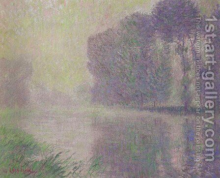 By the River Eure by Gustave Loiseau - Reproduction Oil Painting