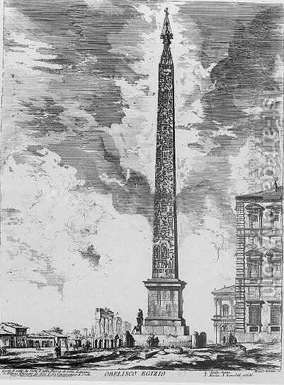 Obelisk lateran by Giovanni Battista Piranesi - Reproduction Oil Painting