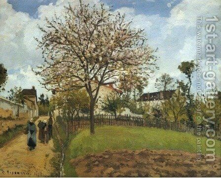 Landscape at Louveciennes 2 by Camille Pissarro - Reproduction Oil Painting