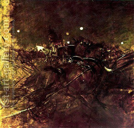 Night on Montmartre by Giovanni Boldini - Reproduction Oil Painting