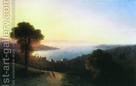 View of the Bosporus 2 by Ivan Konstantinovich Aivazovsky - Reproduction Oil Painting