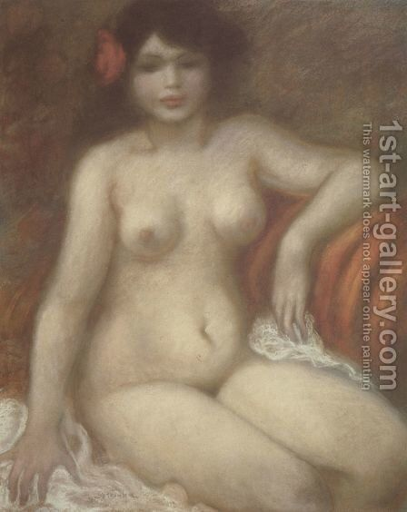 Seated Nude by Theophile Alexandre Steinlen - Reproduction Oil Painting