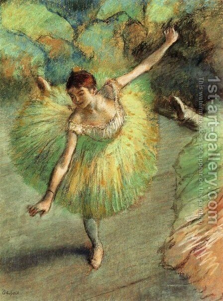 Dancer Tilting by Edgar Degas - Reproduction Oil Painting