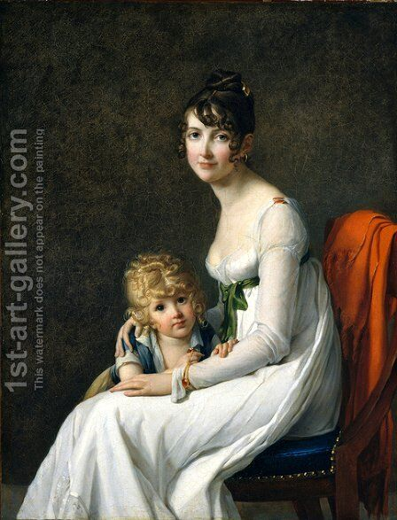 Madame Jeanne Desbassayns de Richemont And Her Son, Eugene by Marie-Guillemine Benoist - Reproduction Oil Painting