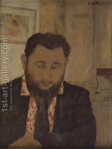 Portrait of Thadee Natanson by Edouard  (Jean-Edouard) Vuillard - Reproduction Oil Painting