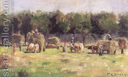 Munich Haying by Theodore Clement Steele - Reproduction Oil Painting