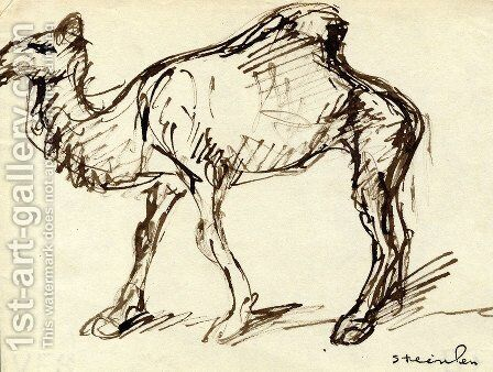 Camel by Theophile Alexandre Steinlen - Reproduction Oil Painting