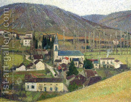View of Labastide in Gray Weather by Henri Martin - Reproduction Oil Painting