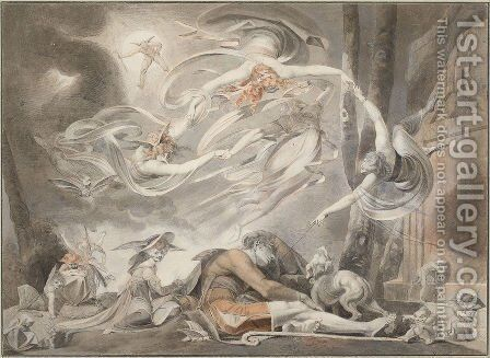 The Shepherd's Dream by Johann Henry Fuseli - Reproduction Oil Painting