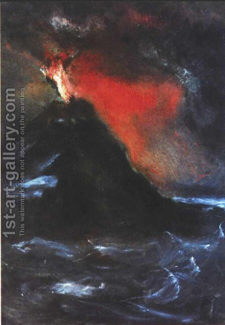 The volcano by Arnold Böcklin - Reproduction Oil Painting