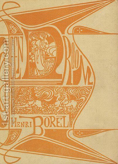 Cover for 'A dream' by Henri Borel by Jan Toorop - Reproduction Oil Painting