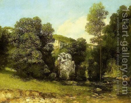 The Stream in Bremen by Gustave Courbet - Reproduction Oil Painting