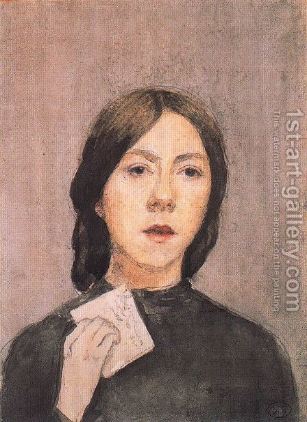 Self Portrait with Letter by Gwen John - Reproduction Oil Painting