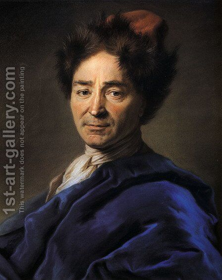Jean Nicolas Vernezobre by Maurice Quentin de La Tour - Reproduction Oil Painting