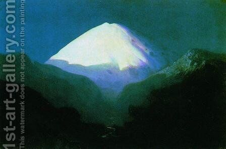 Elbrus. Moonlit Night by Arkhip Ivanovich Kuindzhi - Reproduction Oil Painting