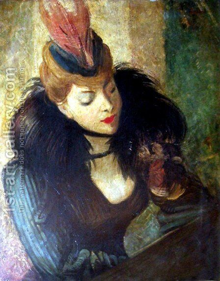 Red Feather by Giovanni Boldini - Reproduction Oil Painting