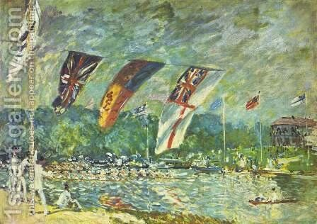 The regattas Moseley by Alfred Sisley - Reproduction Oil Painting
