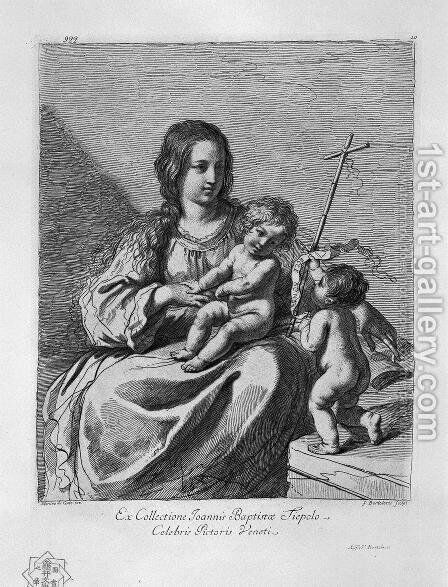 The Madonna with Child and St. John the Baptist by Giovanni Battista Piranesi - Reproduction Oil Painting