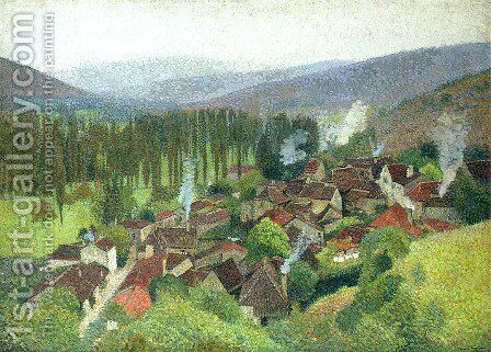View of the Terrasse de Marquayrol, Labastide du Vert by Henri Martin - Reproduction Oil Painting