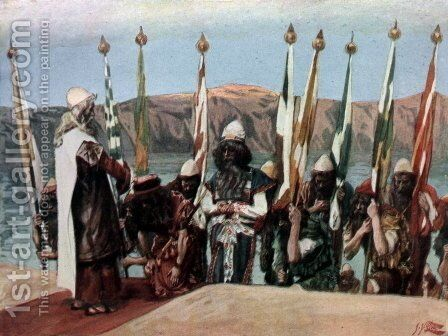 Moses Blesses Joshua Before the High Priest by James Jacques Joseph Tissot - Reproduction Oil Painting