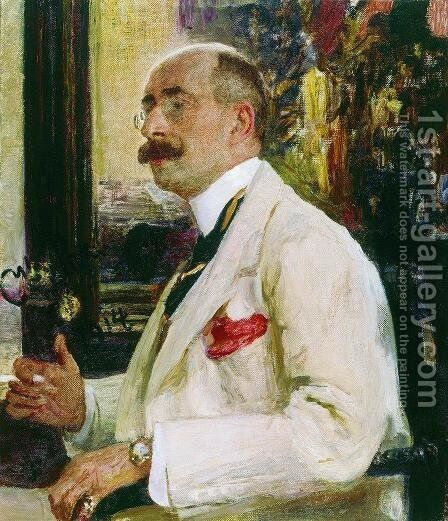 Portrait of N.D. Ermakov by Ilya Efimovich Efimovich Repin - Reproduction Oil Painting