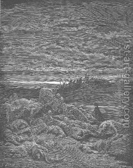 The Death of Gideon's Sons by Gustave Dore - Reproduction Oil Painting