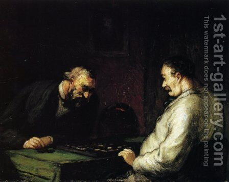 Players by Honoré Daumier - Reproduction Oil Painting