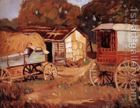 Carriage Business by Grant Wood - Reproduction Oil Painting