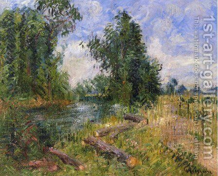 By the Lorne River near Caen by Gustave Loiseau - Reproduction Oil Painting