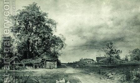 Village by Ivan Shishkin - Reproduction Oil Painting
