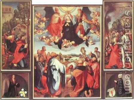 Heller Altarpiece by Matthias Grunewald (Mathis Gothardt) - Reproduction Oil Painting